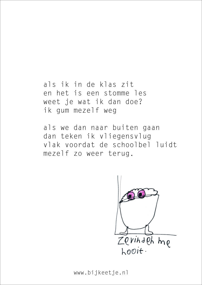Poster gedicht: Stomme les