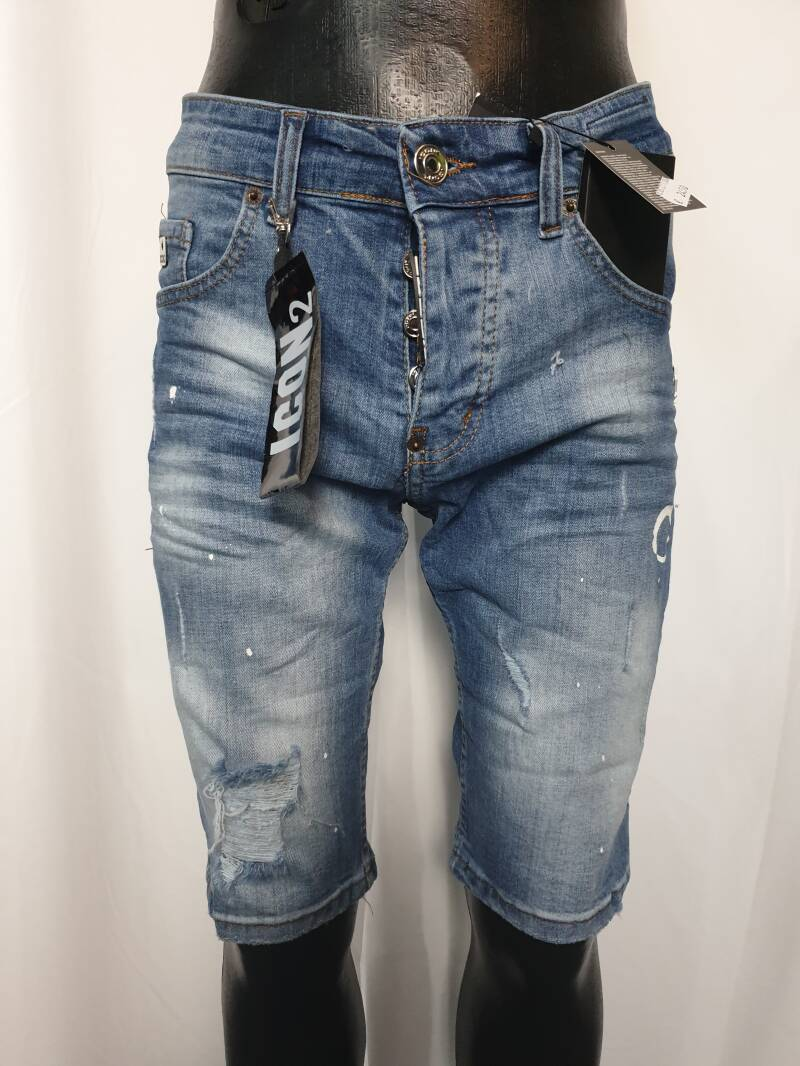 HS18. Shorts Jeans | Blauw Icon2