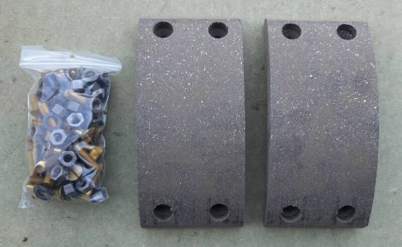 H017 Lining set rear axle brake shoe