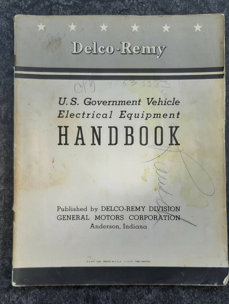 Delco-Remy US Goverment vehicle electrical equipment Handbook