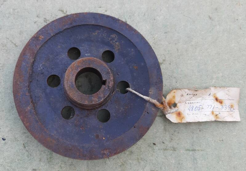 G503 Pulley, engine crankshaft Used with modification MWO ORD G503-W7