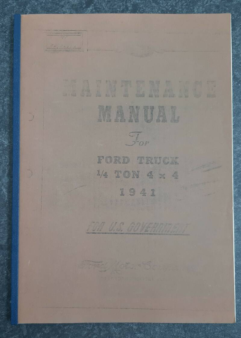 Maintenance manual Ford GP