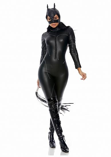 Claws Out Sexy Cat Costume - Zwart