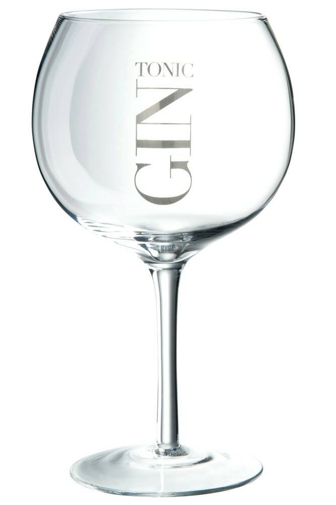 Gin tonic glas zilver
