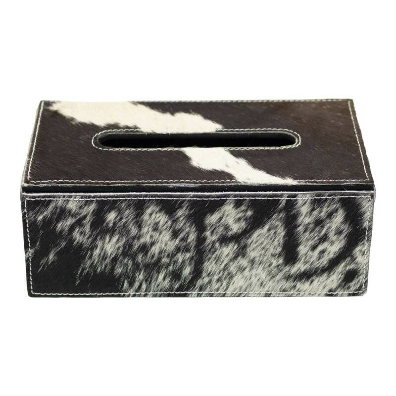 Tissue box koe zwart/wit