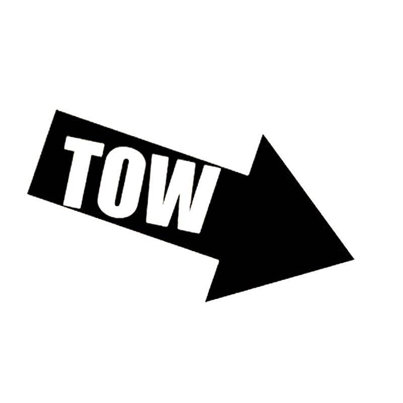 TOW sticker Zwart