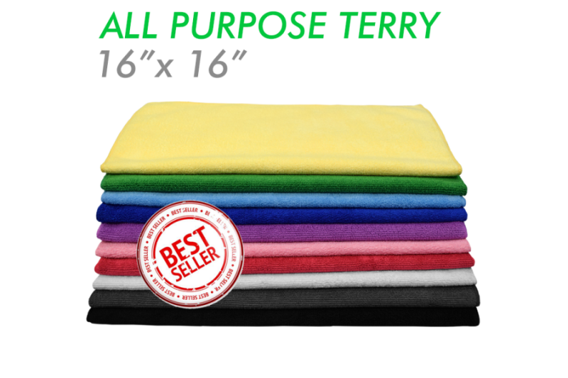 The Rag Company All purpose 41 X 41 Microvezel Terry Handdoek