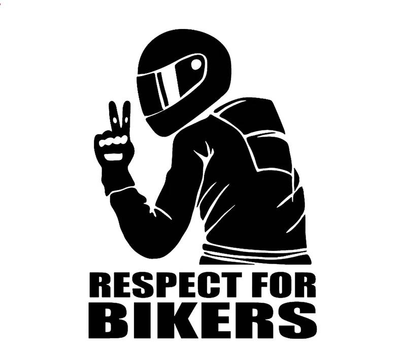 Respect for Bikers sticker Zwart