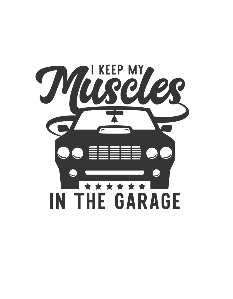 I keep my muscles in the garage Sticker