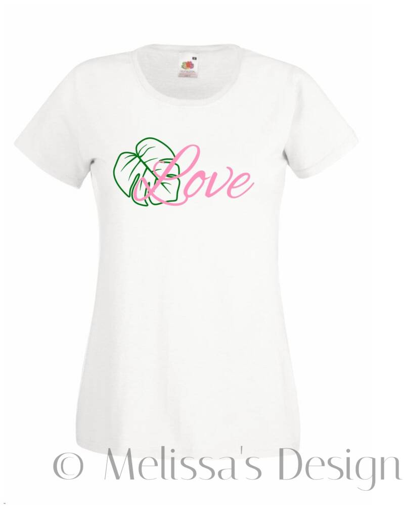 Love Dames t shirt wit