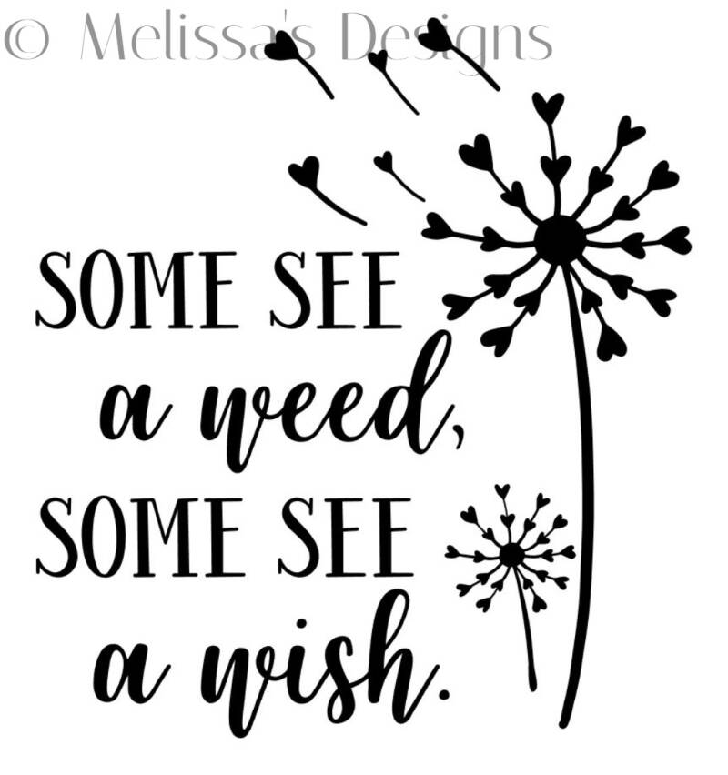 Some see a weed some see a wish sticker