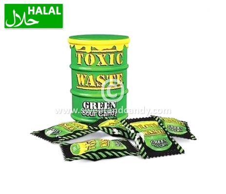 Toxic Waste Green Sour Candy Drum 42 gr.