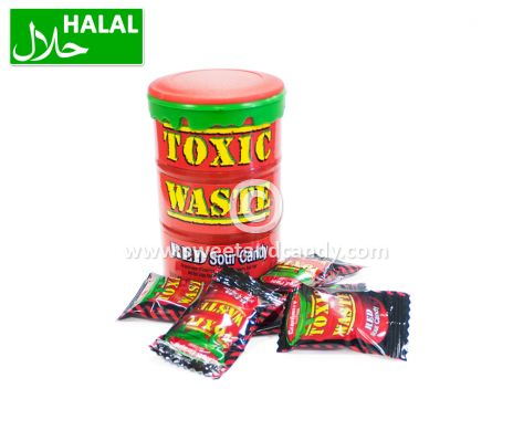 Toxic Waste Red Sour Candy Drum 42 gr