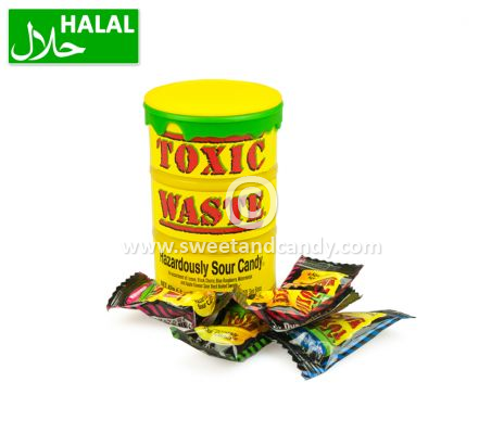 Toxic Waste Yellow Sour Candy Drum 42 gr