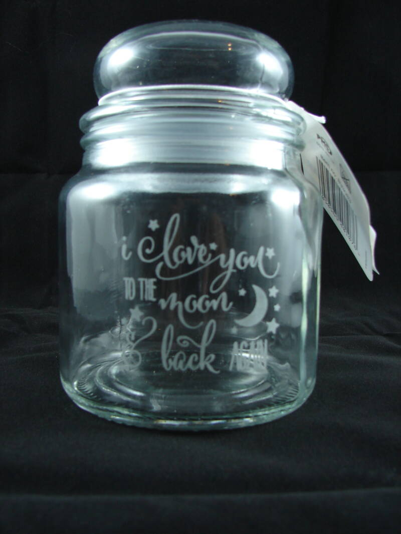 Retro Snoepot I love you to the moon and back