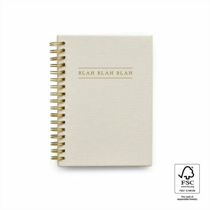 Blah Blah Blah Kids Quotes - Linnen Ivoor - House of Products