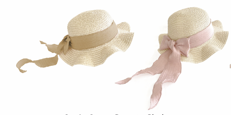 Brook Hat Straw / Strohoed - Peanut & Blush - Mrs.Ertha