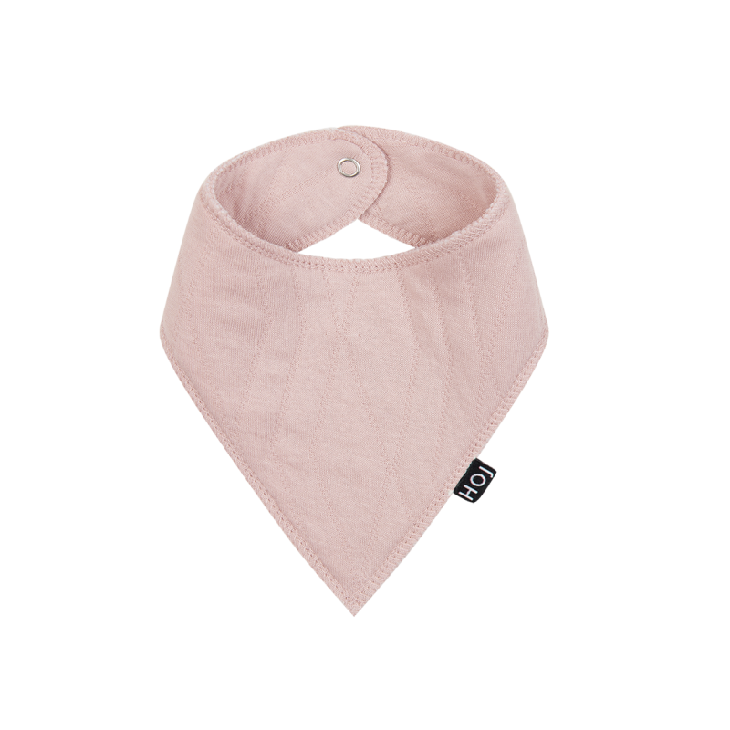 Burb Bib - Geo Jacq Powder Pink - House of Jamie