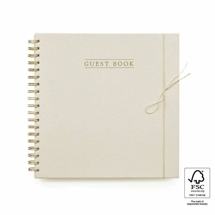 Guest Book - Linen Ivory - House of Products