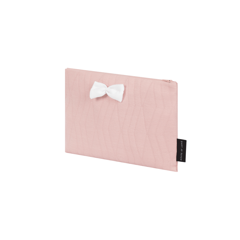 On The Go Clutch - Geo Jacq Powder Pink - House of Jamie