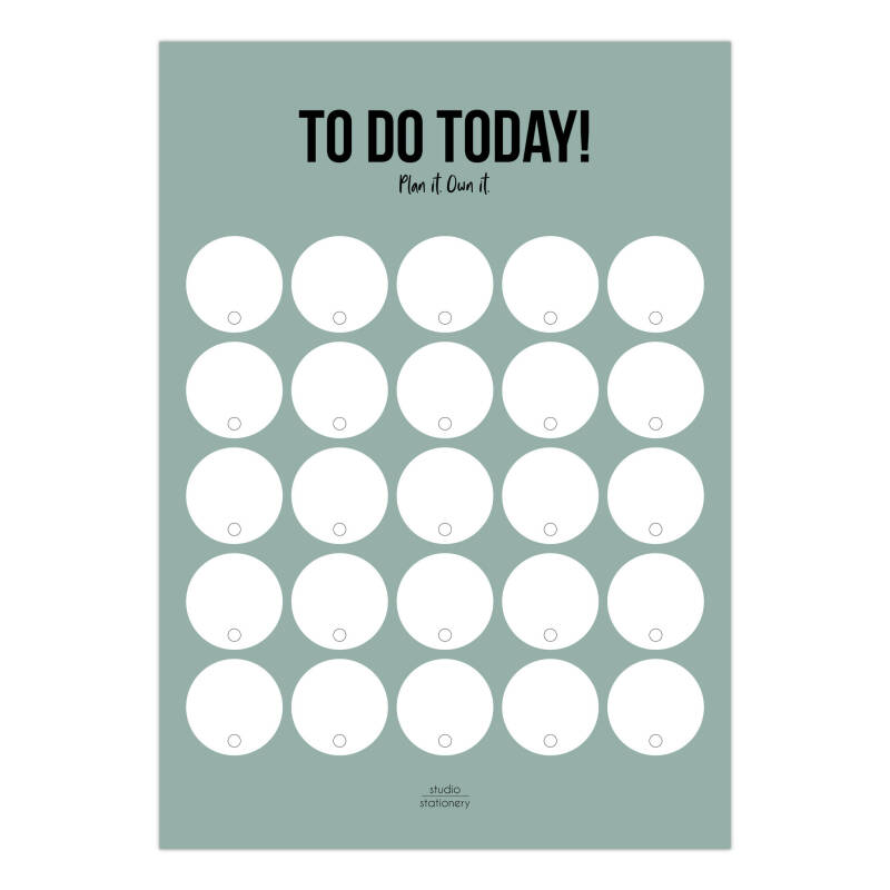 To Do Planner - Mint - Studio Stationery