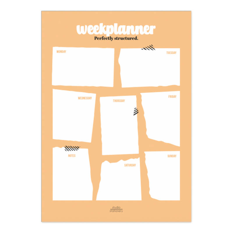 Weekplanner - Perfectly Structured - Studio Stationery