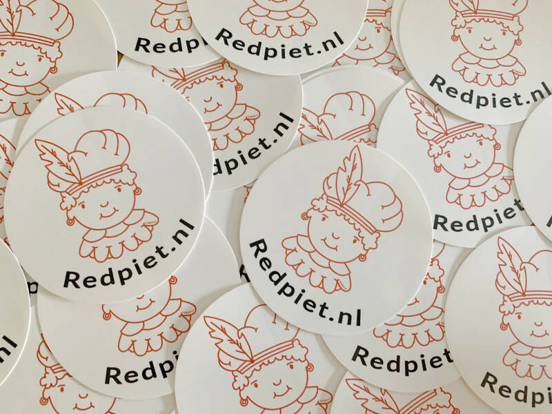 Red Piet stickers  Ø 90 mm