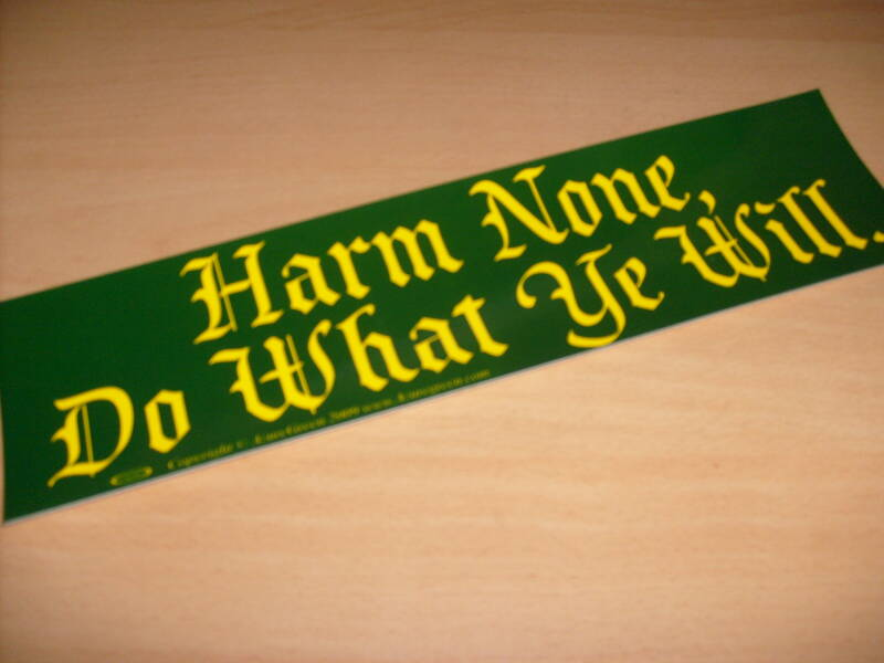 Sticker - Harm None