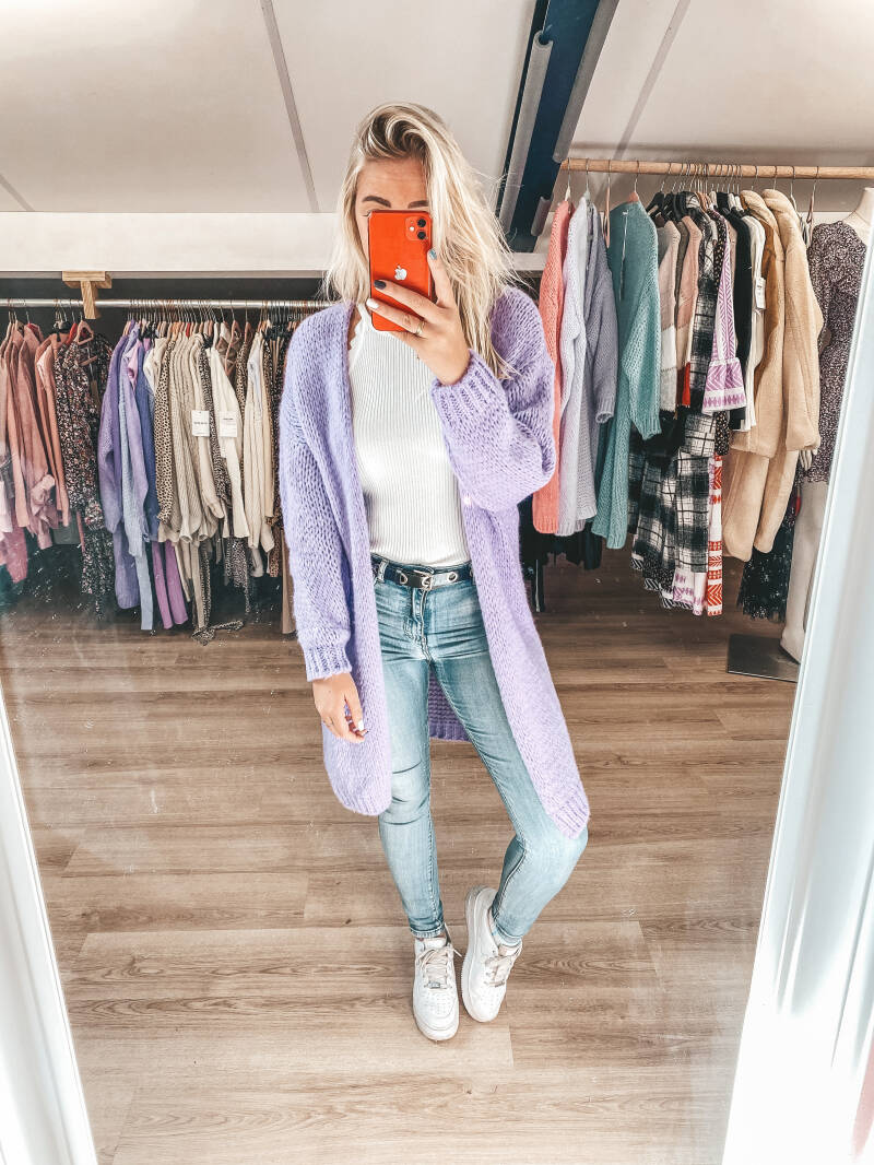 MAUD CARDIGAN PURPLE
