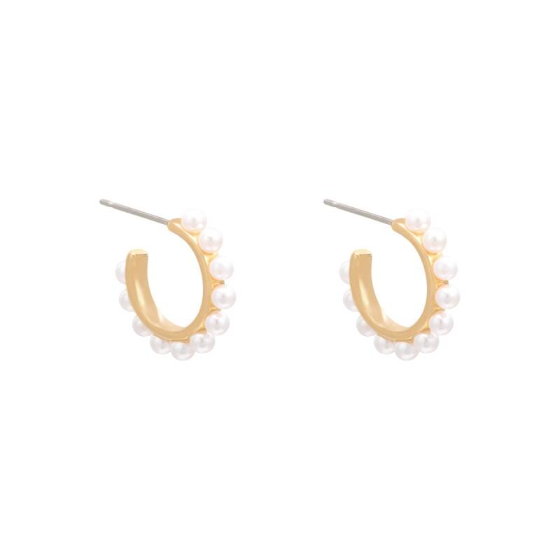 PEARL EARRINGS GOLD
