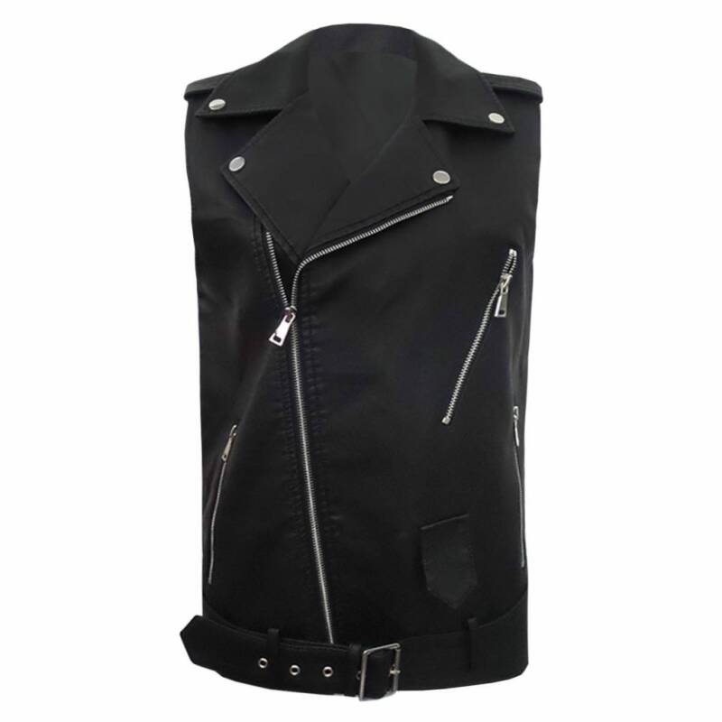 EVI LEATHERLOOK GILET