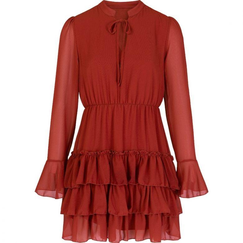 RUFFLE DRESS ROEST