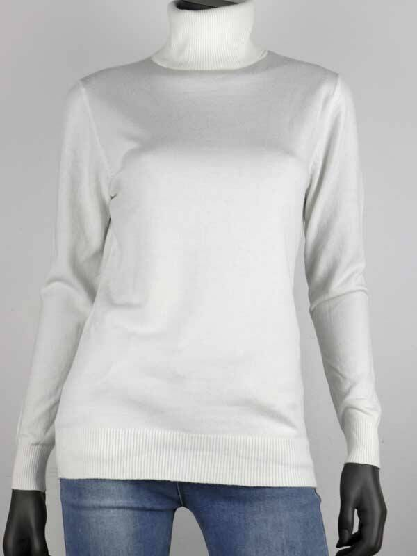 FIANNE COL SWEATER WHITE