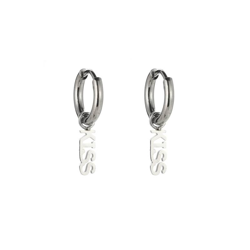 KISS EARRINGS SILVER