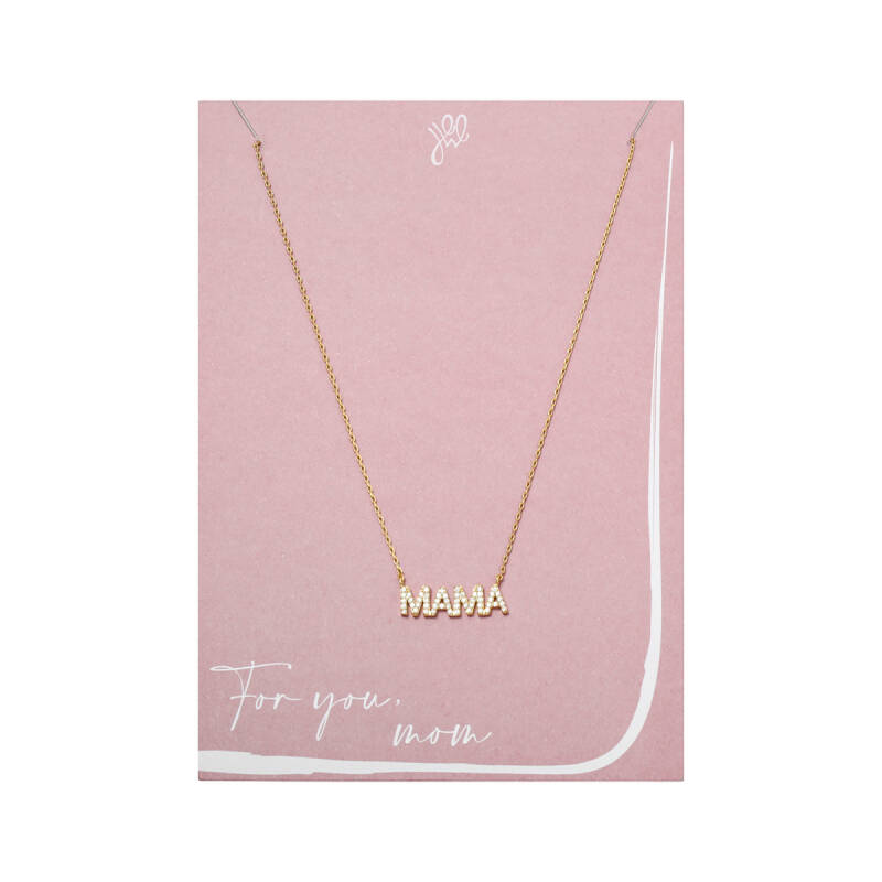 POSTCARD ''FOR YOU MOM'' NECKLACE GOLD