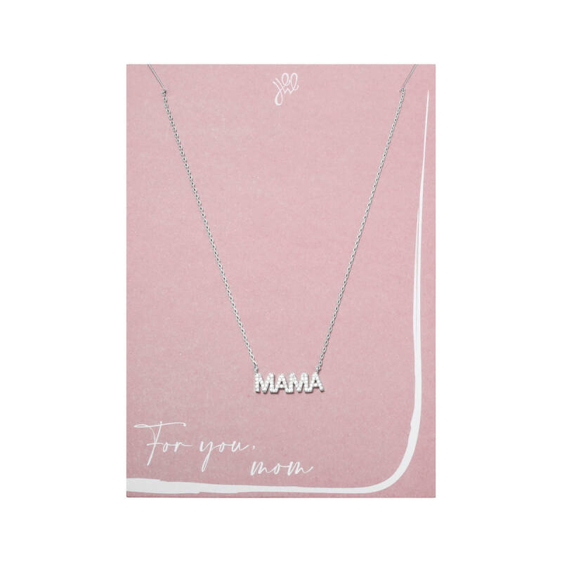 POSTCARD ''FOR YOU MOM'' NECKLACE SILVER