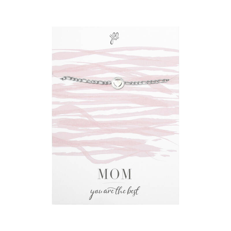 POSTCARD ''MOM YOU ARE THE BEST'' BRACELET SILVER