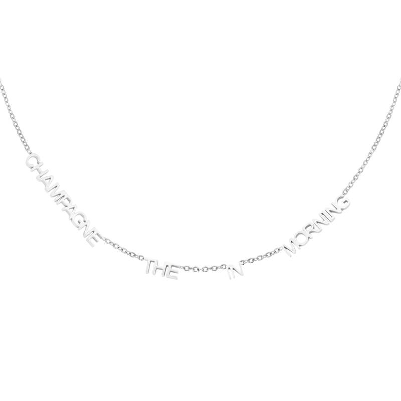 CHAMPAGNE IN THE MORNING NECKLACE SILVER