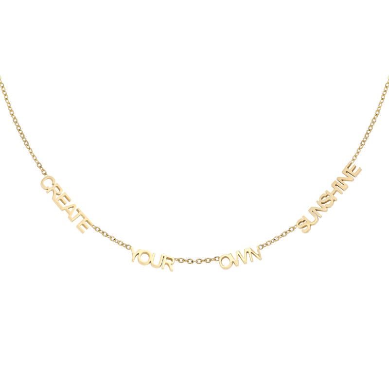 CREATE YOUR OWN SUNSHINE NECKLACE GOLD