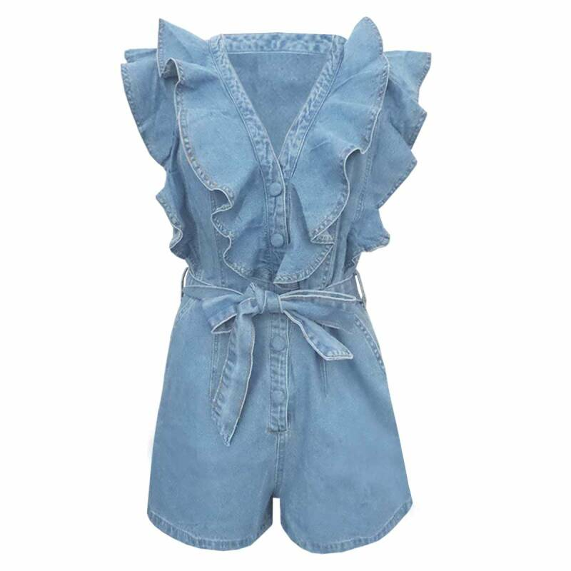 LIZZY DENIM PLAYSUIT