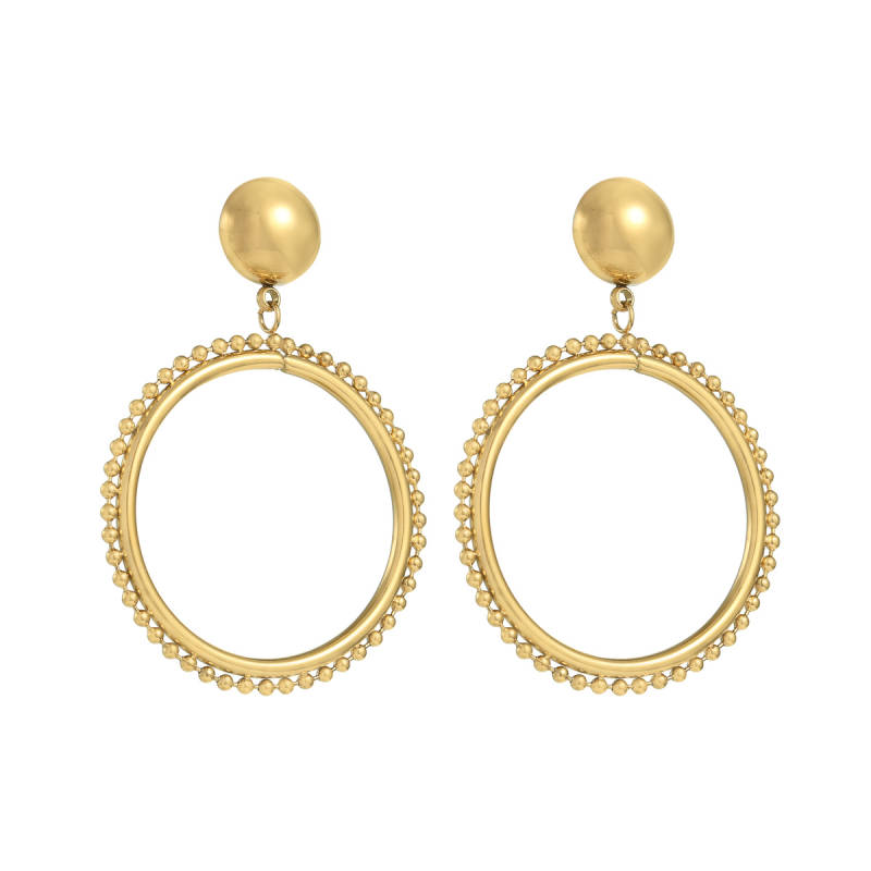 DOTZ EARRINGS GOLD