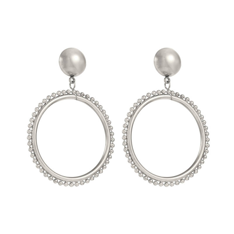DOTZ EARRINGS SILVER