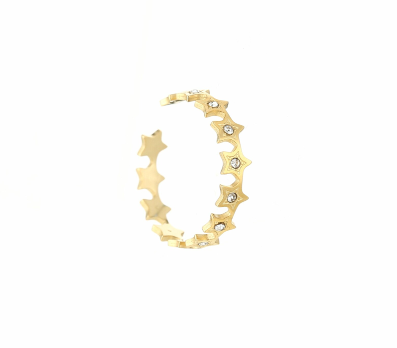 STAR ROW RING GOLD