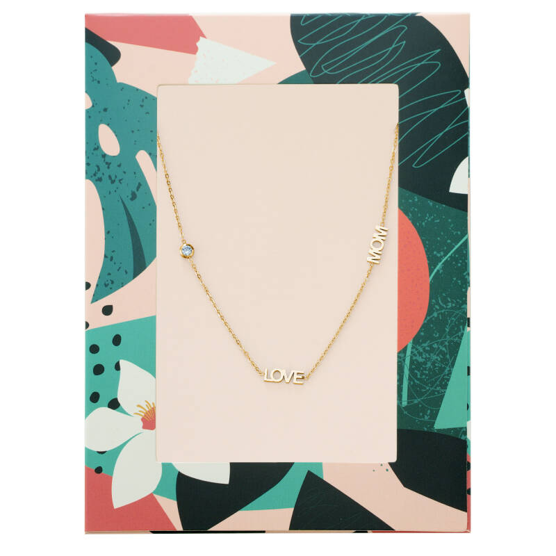 'LOVE MOM' NECKLACE GOLD