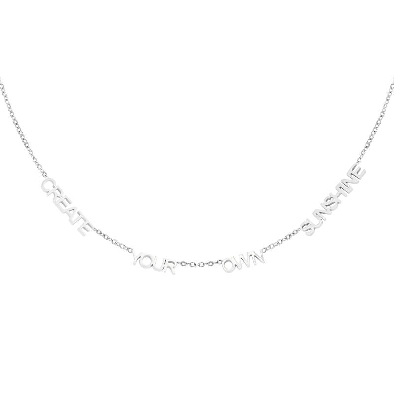 CREATE YOUR OWN SUNSHINE NECKLACE SILVER