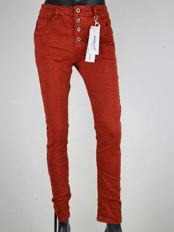 Jeans Bruin/rood