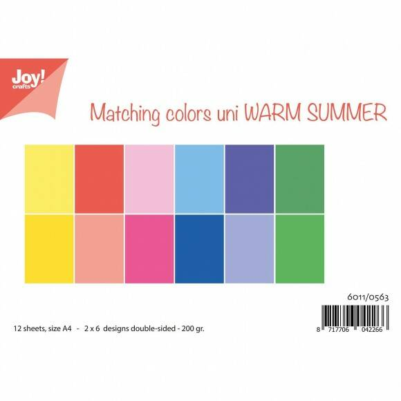 Joy!Crafts papierset A4 2x6 vel dubbelzijdig 200g warm summer