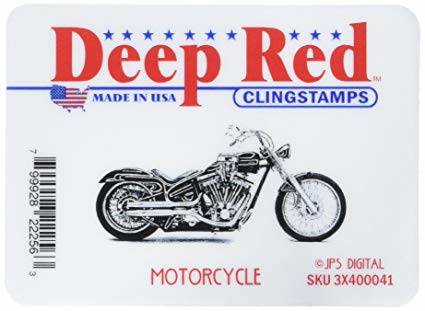 deep red stamps motorcycle