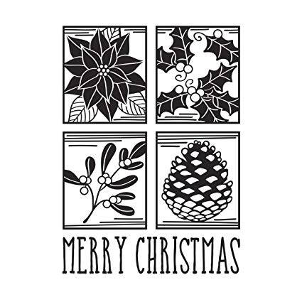 Darice embossing folder Christmas Square