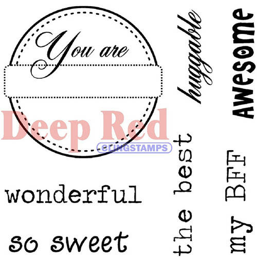 deep red stamps you are rubber stamp set